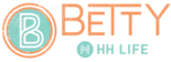 The Betty cyan and orange main logo with HH Life logo (horizontal)