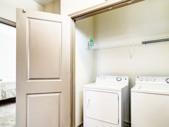 The Bette townhome inside laundry and washer appliance closet.